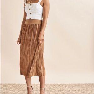 BNWT crinkle pleated midi skirt